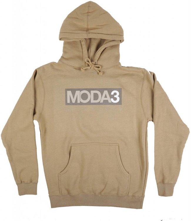 MODA3 Box Logo Pullover Hoodie - Tan - MODA3