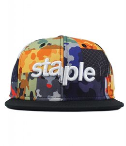 STAPLE WOODLAND CAMO SNAPBACK HAT