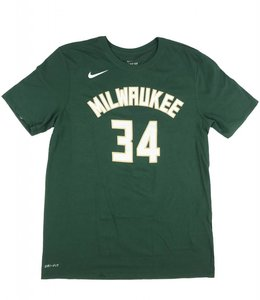 NIKE MILWAUKEE BUCKS GIANNIS NAME & NUMBER JERSEY TEE