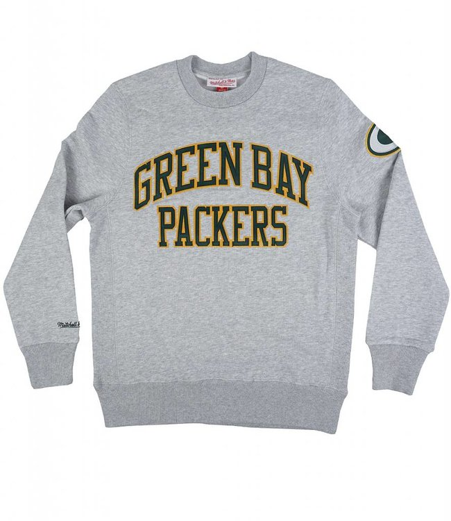 MITCHELL AND NESS GREEN BAY PACKERS PLAYOFF WIN CREWNECK