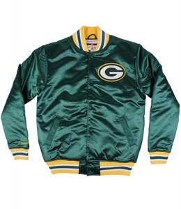 MITCHELL AND NESS GREEN BAY PACKERS SATIN JACKET