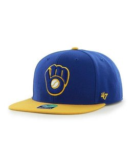 '47 BRAND MILWAUKEE BREWERS SURE SHOT 2-TONE SNAPBACK