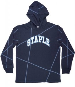 STAPLE MIDNIGHT HOODED LS SHIRT