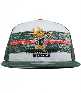 NEW ERA BUCKS HWC BANGO STRIPE SNAPBACK HAT