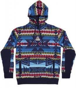 STAPLE AZTEC ALLOVER PULLOVER HOODIE