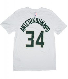 NIKE BUCKS GIANNIS NAME AND NUMBER ASSOCIATION JERSEY TEE