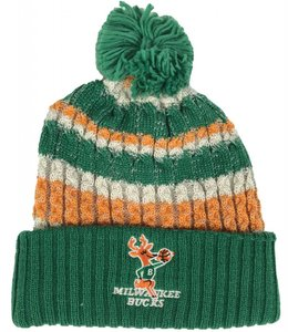MITCHELL AND NESS BUCKS IRISH SWEATER POM BEANIE