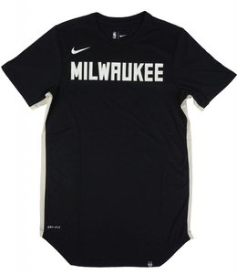 NIKE BUCKS DRI-FIT MILWAUKEE SCOOP TEE