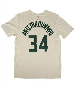 NIKE BUCKS GIANNIS NAME AND NUMBER CITY JERSEY TEE