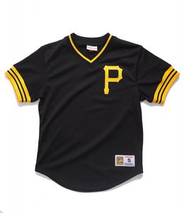 MITCHELL AND NESS PITTSBURGH PIRATES MESH V-NECK