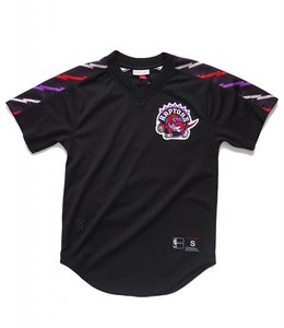 MITCHELL AND NESS TORONTO RAPTORS WINNING TEAM MESH V-NECK TOP