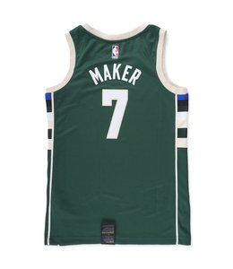 NIKE BUCKS THON MAKER ICON SWINGMAN JERSEY