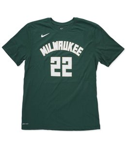 NIKE BUCKS KHRIS MIDDLETON ICON NAME AND NUMBER JERSEY TEE