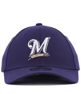 NEW ERA KIDS MILWAUKEE BREWERS TEAM CLASSIC 39THIRTY STRETCH FIT HAT