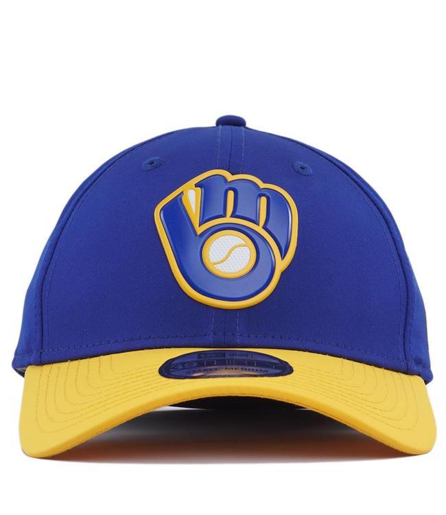 size 40 a4747 605c2 ... inexpensive new era milwaukee brewers alternate mlb batting practice  prolight 39thirty stretch fit hat 93576 6f1c7 ...