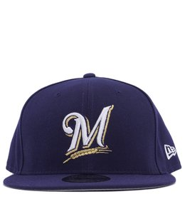 NEW ERA MILWAUKEE BREWERS DOM BASIC 9FIFTY SNAPBACK
