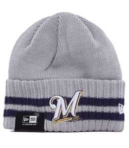 NEW ERA MILWAUKEE BREWERS 2 STRIPED KNIT