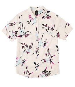 RVCA MOONFLOWER FLORAL BUTTON SHIRT