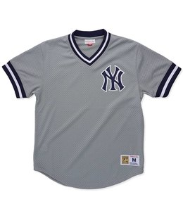 MITCHELL AND NESS NEW YORK YANKEES MESH V-NECK TOP