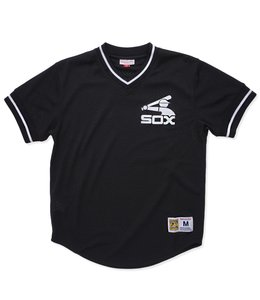 MITCHELL AND NESS CHICAGO WHITE SOX MESH V-NECK TOP