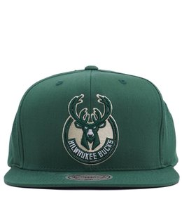 MITCHELL AND NESS MILWAUKEE BUCKS PERFORATED FADE SNAPBACK
