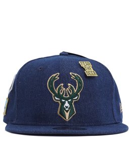 NEW ERA MILWAUKEE BUCKS 2018 DRAFT DENIM 9FIFTY SNAPBACK