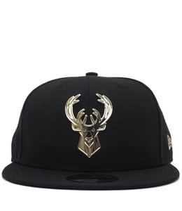 NEW ERA BUCKS METAL FRAMED SNAPBACK HAT