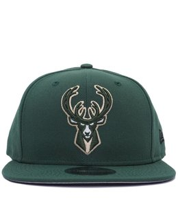 NEW ERA BUCKS PRIMARY LOGO SNAPBACK HAT