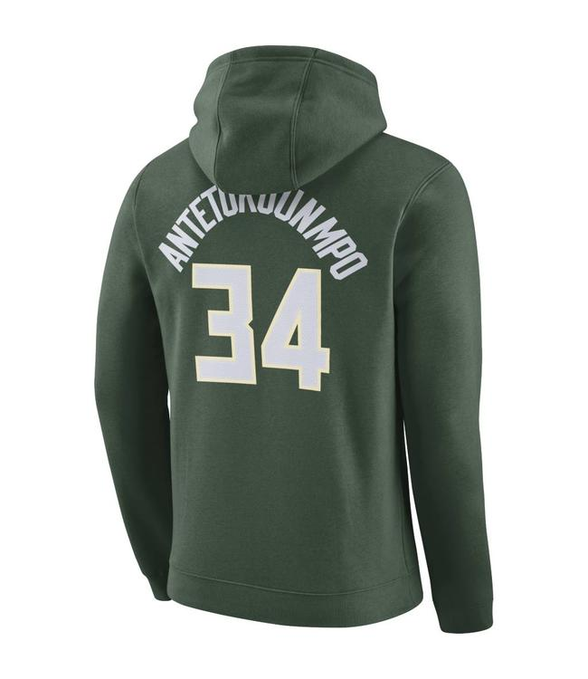 NIKE Bucks Giannis Name and Number Hoodie