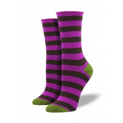 Socksmith Polo Stripe-Orchid