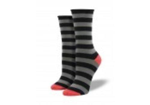 Socksmith Polo Stripe-Black