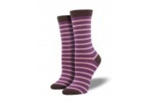 Socksmith Bamboo Sailor Stripe - Viola