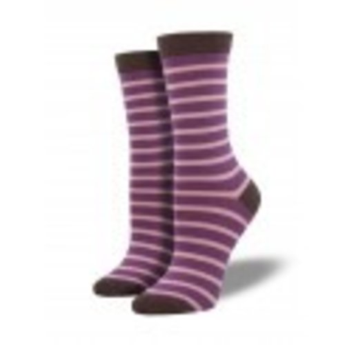 Socksmith Bamboo Sailor Stripe - Viola