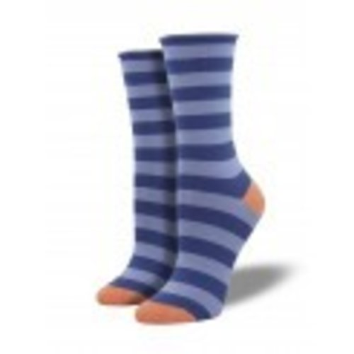 Socksmith Bamboo Polo Stripe - Marlin Blue