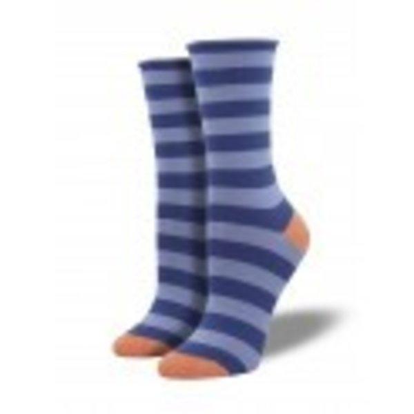 Socksmith Bamboo Polo Stripe - Marlin Blue