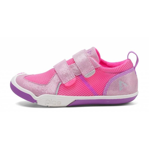 ty - shimmer suede & mesh pink/dewberry