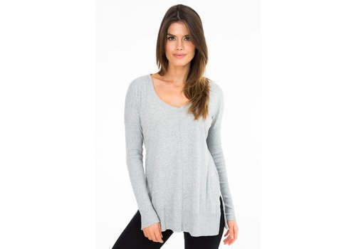 BobiLA Rib Mix L/S V-Neck Tee
