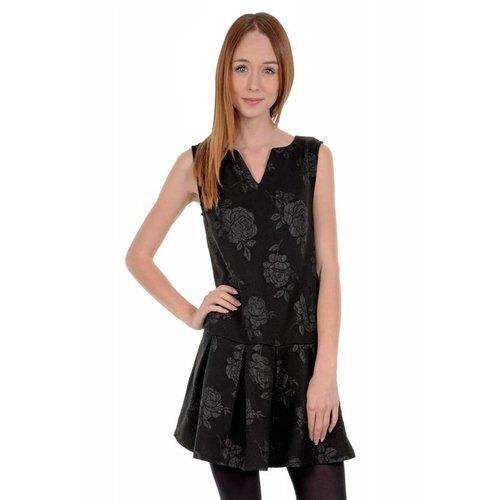 Low Hem Black Dress