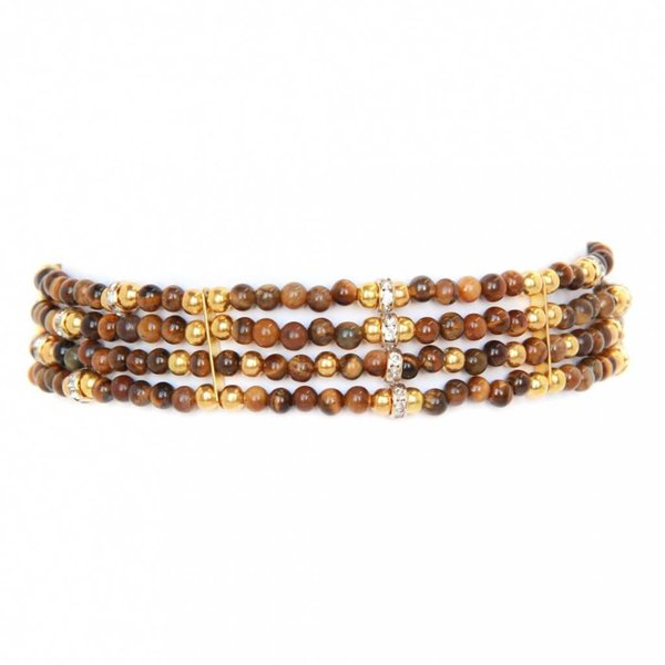 ettika Tigers Eye Choker