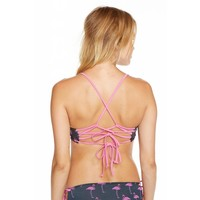 Chaser Pink Flamingos Bikini Top