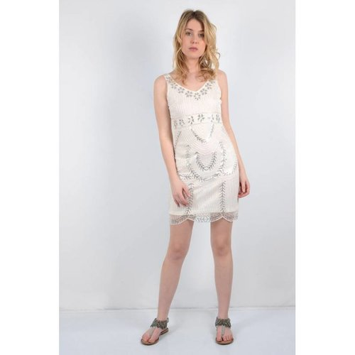 Molly Bracken Silver Sequin Dress