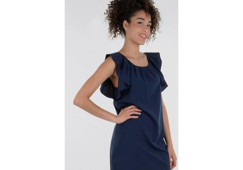 Molly Bracken Ruffle Shoulder Dress