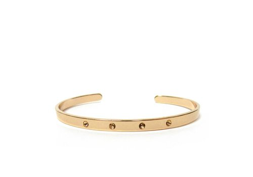 Marlyn Schiff Studded Open Bangle