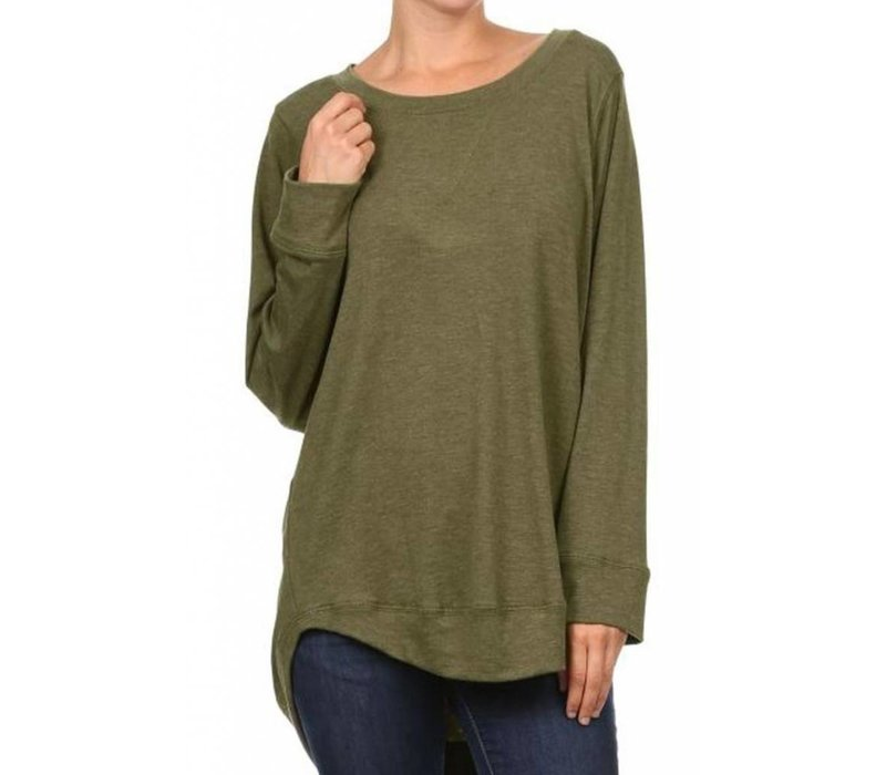 French Terry Stitch Detailed Top