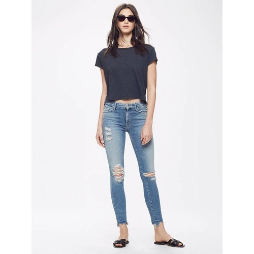 MOTHER High Waisted Looker Ankle Chew
