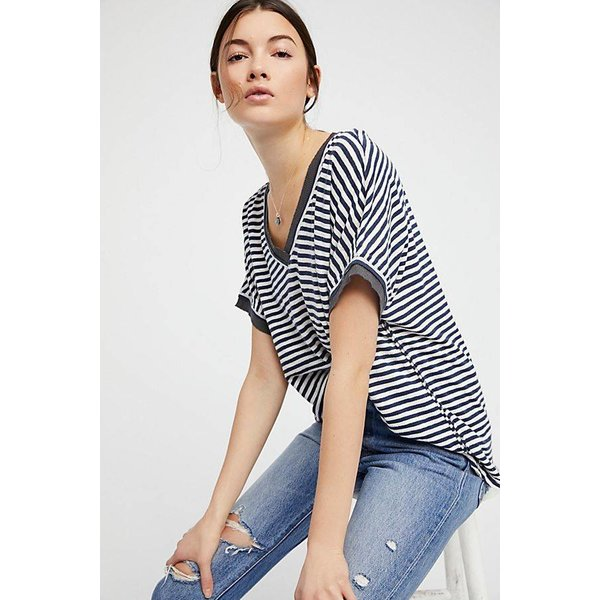 Free People Take Me tee Stripe