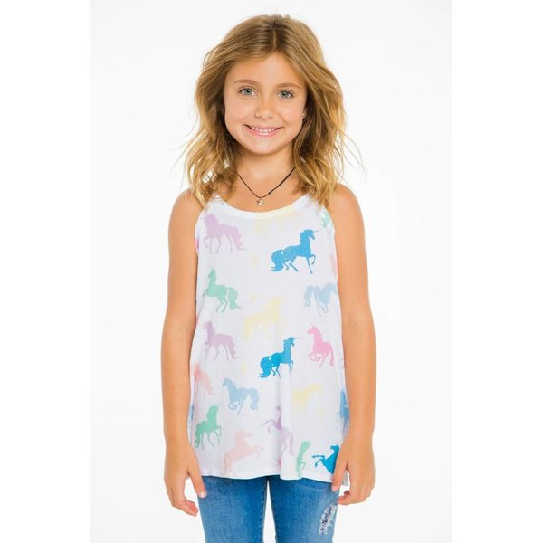 Chaser Kids Girls Flounce Tank