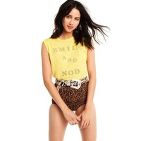 Wildfox Smile and Nod Vintage Muscle Tank