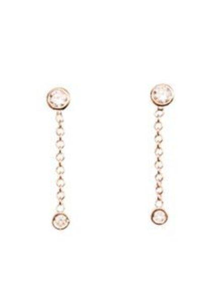ariel gordon diamond chain drop earrings