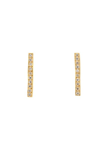 satomi kawakita jewelry long diamond pavè bar earrings